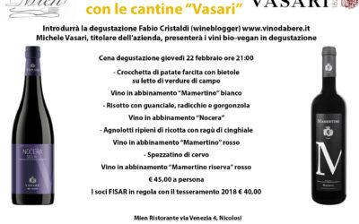 Itinerari di-vino con le Cantine Vasari – 22 febbraio 2018 ore 21.00
